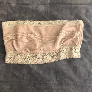 Tan bandeau free people lace